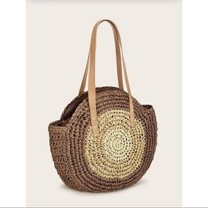Handbags - 🌟LAST 2🌟 Woven Round Straw Tote Bag